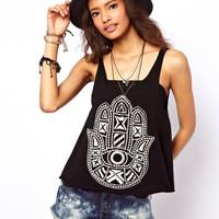 ASOS Cami with Henna Applique Hand