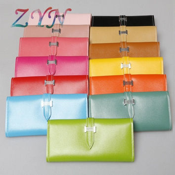 2015 Womens Fashion Long Wallet Korean Style Candy-color Purse PU Leather Wallet Fashion Accessories for Women = 1958400964