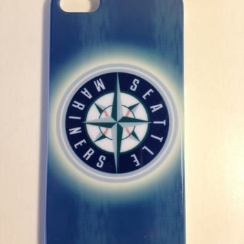 Seattle Mariners hard back phone cover for the Iphone 5 5s