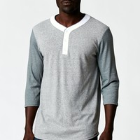 On The Byas Mags Henley T-Shirt - Mens Shirt