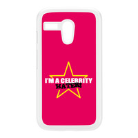 Celebrity Hater White Hard Plastic Case for Moto G by Chargrilled