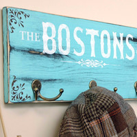 Personalized Family Name Key Holder/Coat Hook Sign