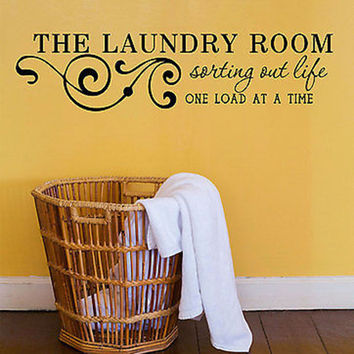Laundry Room Wall Decals - Sorting Out Life H25