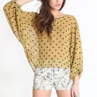 Talk The Talk Sheer Top - $34.00 : ThreadSence.com, Your Spot For Indie Clothing & Indie Urban Culture
