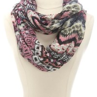 TRIBAL PRINT ABSTRACT INFINITY SCARF