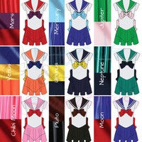 Sailor Moon Sailor Senshi Cosplay Costume (Plus Sizes Available!)