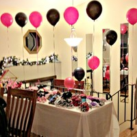 hot pink and zebra baby shower decorations -