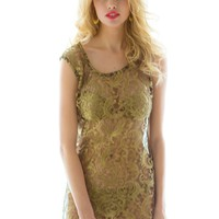 Sauvage Bardot French Lace Dress