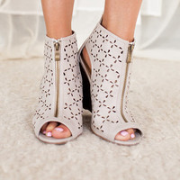 Easy on the Eyes Wedges in Taupe