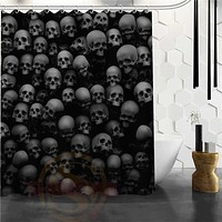 Dark Skulls Shower Curtain