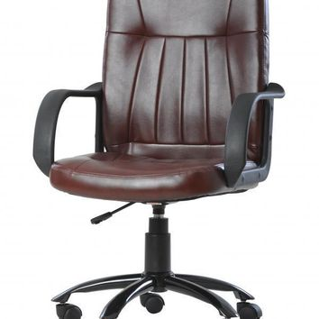 New Brown Modern Office Executive Chair Computer Desk Task Hydraulic O2221