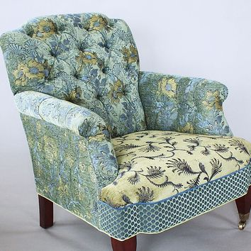 Chelsea Chair in Dusk by Mary Lynn O'Shea (Upholstered Chair) | Artful Home