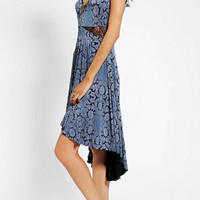 Urban Outfitters - Ecote Lace-Inset High/Low Midi Dress