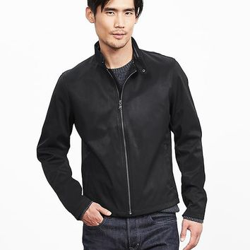 Banana Republic Mens Black Nylon/Cotton Zip Jacket