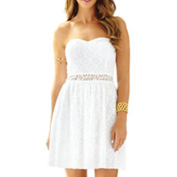 Brett Strapless Lace Dress | Lilly Pulitzer