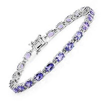 9.68TCW Natural Tanzanite Tennis Bracelet