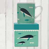 Magpie AHOY! Big Coffee Tea Mug - Narwhal Oversized Coffee Tea Mug