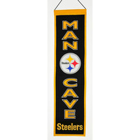 Pittsburgh Steelers NFL Man Cave Vertical Banner (8 x 32)