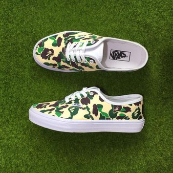 Vans X Bape Low Tops Flats Shoes Canvas Sneakers Sport Shoes