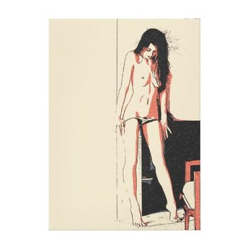 And what do we have in here? Sexy girl teasing Canvas Print