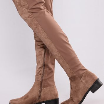 Marja Over The Knee Boot - Taupe