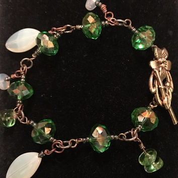 Beautiful Green Swarovski Crystal Beaded Bracelet