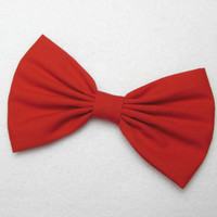 Hair Bow Clip - Red