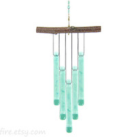 Light Green Wind Chime,Glass Wind Chime,Green Windchime,Glass Chimes,Green Chime