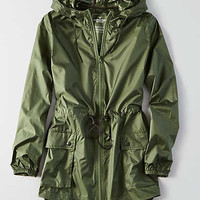 AEO Packable Rain Jacket , Olive