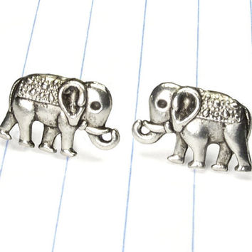 elephant earrings  elephant studs  elephant by strawberryuniverse