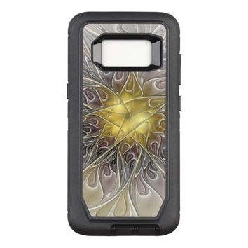 Flourish With Gold Modern Abstract Fractal Flower OtterBox Defender Samsung Galaxy S8 Case