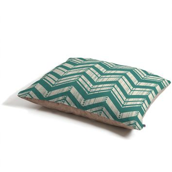 Heather Dutton Weathered Chevron Pet Bed