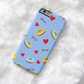 Claire Blossom colorful doughnut blue Barely There iPhone 6 Case
