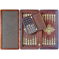 "20"" Handmade Wooden Backgammon - PRINCELY"