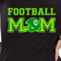 Football Mom T-shirt Proud Football Fan Tailgate Shirt T-Shirt Funny Vintage swag womens ladies TShirt T-Shirt T Shirt Tee - DT-628