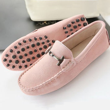 Shoes Women 2016 New brand women genuine Leather flats casual female Moccasins Spring Summer lady loafers Women Driving Shoes