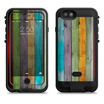 The Vintage Colored Wooden Planks  iPhone 6/6s Plus LifeProof Fre POWER Case Skin Kit