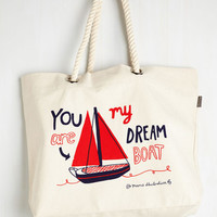 Nautical Quite the Catch Bag by ModCloth