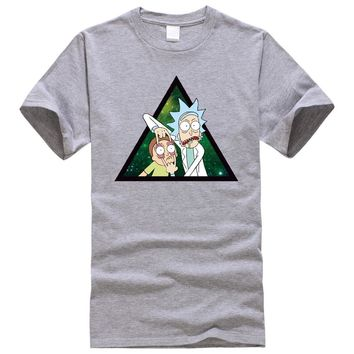 Rick And Morty Men T-shirts Dragon Balls Star Wars Funny Design Digital Printing 100% 180 gsm Combed Cotton Cunstomized