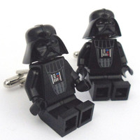 LAST PAIR LEGO Star Wars Darth Vader Cufflinks by Cufflinks