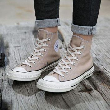 One-nice™ Converse Casual Sport Shoes Sneakers Shoes Khaki I