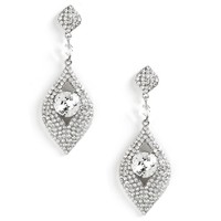 Sale- Silver Diva Status Earrings
