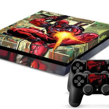 DCCKWQA Deadpool Skin for PS4 + 2 controllers