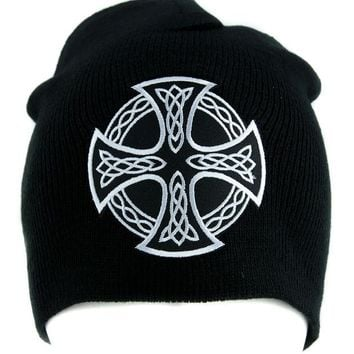 ac spbest Celtic Iron Cross Beanie Alternative Style Clothing Knit Cap Sons of Anarchy Biker