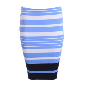 MICHAEL Michael Kors Womens Striped Knee-Length A-Line Skirt