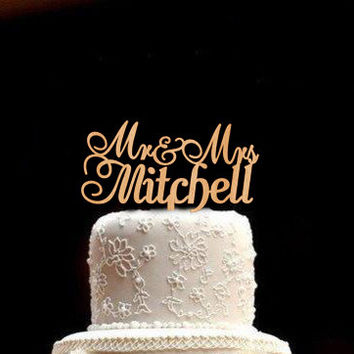 Personalized Wedding Cake Topper Custom Wedding Cake Topper Rustic Wedding Topper Wood Wedding Cake Topper  Mr and Mrs Cake Topper Wedding