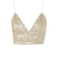**Pussy Cat Vintage Gold Crop Top by WYLDR