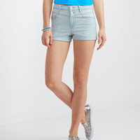 Seriously Stretchy High-Waisted Light Wash Short Shorts - Aeropostale
