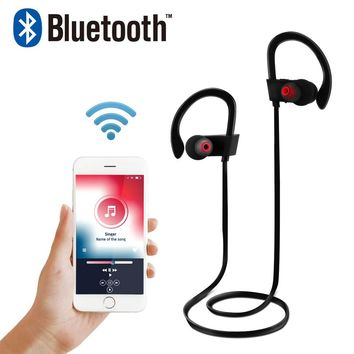 FORNORM Sport Hook Wireless Earbud Microphone For Hands-free Calls For iPhone Samsung Stereo Player