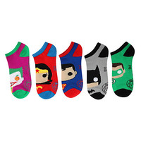 DC Comics Pop! Heroes No-Show Socks 5 Pair